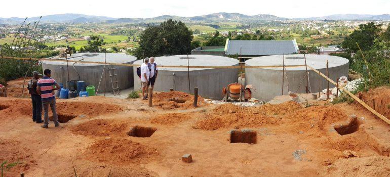 Construction d'un réservoir de 300 m3 en ferrociment